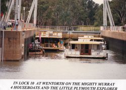 Plymouth at Wentworth on the Murray River